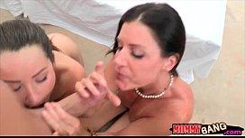 Lola Foxx n India Summer share boyfriend and fucked on turns