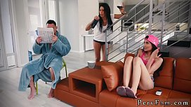 Short hair teen creampie Family Shares A Bed