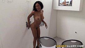 Ebony Anya Ivy Sucks White Cock - Glory Hole