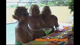 WHORE Grannies at a POOL BAR