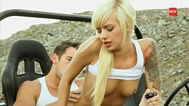 Emma Mae Get Wild In Toyota JEEP