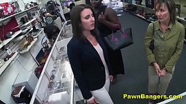 Cheeky Shop Owner Bangs Customer'_s Pussy