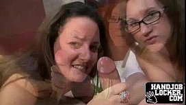 Double girl handjob