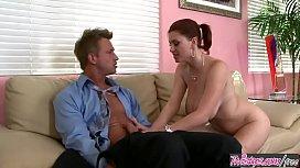 Big tit milf (Sara Stone) rides her bosses dick - Twistys