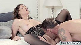 Slut Krissy seduced her busy husband