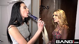 BANG Confessions Aubrey Sinclair Threesome Fuck in Dressing Room
