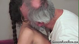 Teen jizzed by grandpa