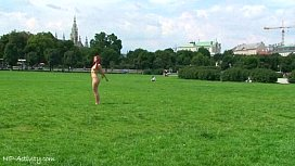 Sweet Redhead Kety Naked On Public Streets