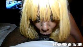 FreakMob Media- Hunny Love Deepthroat Blowjob