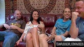 Team Fucks Girl - Slutty Ashli Ames Gets a Three Man Gangbang