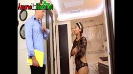 Colegiala caliente da su virgo por dinero pervertida morena joven enculada muy duro por vergon