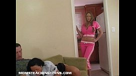 Incredible Milf teaches teen Deena the right way to please a man