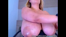 Big ass blonde BBW with Natural Massive Tits - Part 1