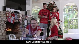 Familystrokes - Step-Sis Fucked During Christmas Pic xxx video