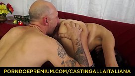 CASTING ALLA ITALIANA - Hardcore anal audition with squirting mature Italian Margot Rossini