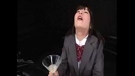 Asian Bukakke - 50 cumshots in a cup