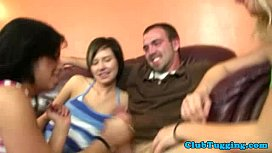 CFNM housewives jerking cock