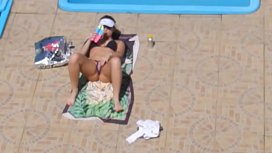 Flagra safada masturbando Piscina Flagged Girl masturbate on the pool