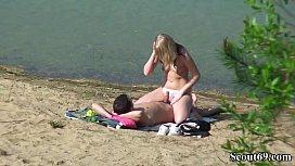 Deutsches Teeny Paar heimlich bei Sex am Strand gefilmt