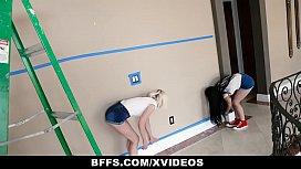 BFFS - Three Besties Suck Cock Instead Of Paying The Handyman