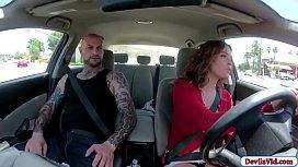 Boober driver lets passenger fuck her