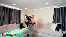 TRYBANG.COM - Hot MILF Alura Jenson Dominates Young Juan El Caballo Loco In The Living Room