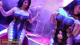 Latin big butt girls lesbian show with live music