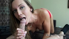 Gi iend in red panties gets fingered pov