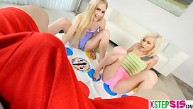 Twisted game with my stepsis and her hot blonde friend xxx video