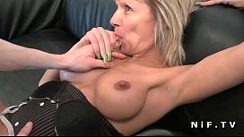 French mature cougar hard analized for her amateur casting couch