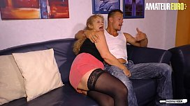 AMATEUR EURO - German Granny Yvonne Deceive And Fucks With Her Younger Neighbour