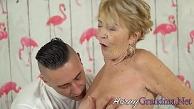 Old blonde skank nailed and cum dumped