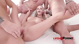 Florane Russell anal &amp_ DAP 3on1 with huge cocks SZ2143