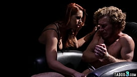 Redhead MILF chooses a unique interrogation technique