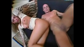 Blonde girlfriend Keri Sable gets hardcore fuck in the couch and gets facial