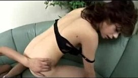 Brunette Asian Girl Getting Her Pussy Fucked With Toys While Sucking Cock Swallowing Cum