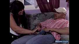 Thick Granny Seduces Her Younger Friend - 8bbw.com