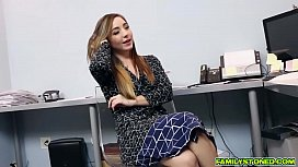 Bambi Brooks bends over for dads cock doggy pounding