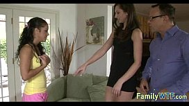 Husband and wife fuck the babysitter 529