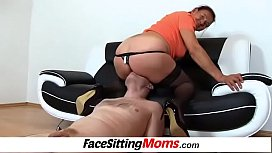 Linda a dirty facesitting with hairy granny