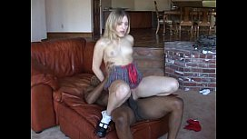 Hot Blonde Babe Tryes A Black Cock