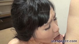 Hot Amateur Japanese MILF gets hairy pussy creampie
