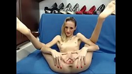 Skinny Hot Teen with Small tits Spreads her Ass on Webcam tinyamateurca