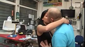Nice young brunette fucked by mechanic