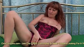 Mature Redhead Jasmina Hot Finger Bangs Her Hairy Fire Crotch