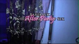 Squirting Blonde Swinger Wife Bareback 3 BBCs