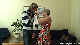 Lonely 60 years old granny swallows big cock xxx video