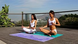 asian from AsiansAffairs .com gets first yoga class from AsiansAffairs .com