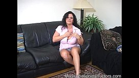 Mistress teases horny men using her gigantic breasts