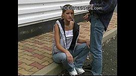 blond teen outdoor blowjob torjakan